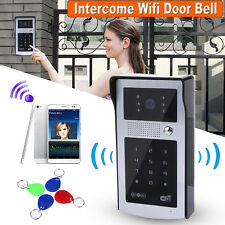 Wireless Wifi Video Phone Doorbell Remote Intercom Infrared Camera RFID Keyfobs