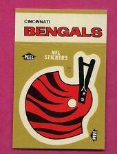 1982 CINCINNATI BENGALS  STICKER SCHEDULE NRMT-MT  (INV# 8303)