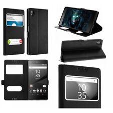 Sony Xperia XA 1 Ultra, Housse Double Fenêtre Intérieur Silicone Noir