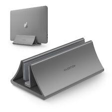LENTION Aluminum Silver Vertical Adjustable Laptop Stand Holder Notebook Storage