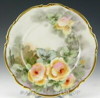 Hutschenreuther Bavaria 24K GOLD OSBORNE HANDPAINTED ROSES & GOLD PLATE CHARGER