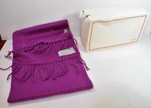 """NIB $179 Authentic Coach women maroon Wool Cashmere scarf / shawl 66"""" x 10"""""""