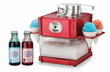 NEW Ice Snow Cone and Slushie Maker with 2 x 500ml Syrup Bottles Drink