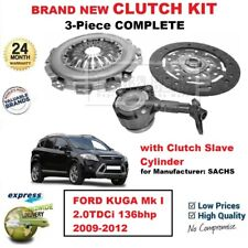 FOR Sachs FORD KUGA Mk I 2.0TDCi 136bhp 2009-2012 BRAND NEW 3PC CLUTCH KIT + CSC
