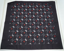 Vintage Bandanna Black HD and Spiders 1995 By The Planet New Old Stock ST181