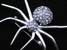 NIB NAPIER PEWTER BUG INSECT BROWN RECLUSE BLACK WIDOW SPIDER PIN BROOCH JEWELRY