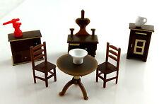 Dolls House Miniature 1:48 Scale Plastic Kitchen Furniture Set