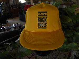 Rock Tools Atlas Copco Yellow Vintage Snap back Hat Cap Vented Old School