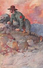 C6159) WW1, SCOUT IN AVANSCOPERTA. VIAGGIATA NEL 1916.