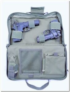 Tactical Professional Padded Pistol Case ALL CZ 75 Handguns SA 61 - Olive - New