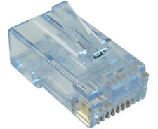 50x EZ-RJ45® Modular Plug Cat6+ Connector Round Solid / Stranded Cable CN1-3003