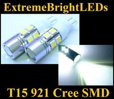 TWO Xenon HID WHITE T15 921 2825 Cree Q5 + 10-SMD Backup Lights #85B