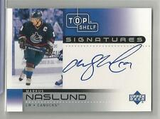 2001-02 Upper Deck Top Shelf Signatures Markus Naslund On Card Autograph # MN