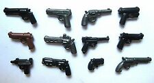 BrickArms PISTOL Pack 12 Guns Weapons for Lego Minifigures NEW