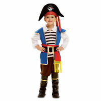 Boys Pirate Captain Hook Fancy Dress Halloween Kids Child Costume Cosplay Outfit
