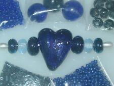 Purple Blue Metal Change Handmade Lampwork Glass Crystal Seed Bead Lot 4047