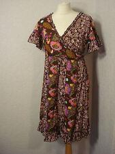 Joe Browns brown multi floral wrap dress 12