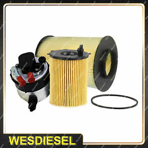 Wesfil Oil Air Fuel Filter Service Kit for Volvo C30 M DRIVE 1.6L D 05/10-on