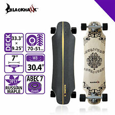 "BLACKHAWK 33.3x9.25"" 9Ply Premium Maple Deck ABEC-7 Cruiser Complete Skateboard"