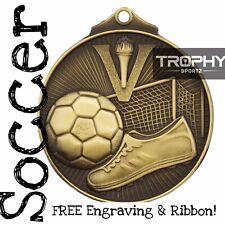 1x SOCCER ball medal Premium award 52mm FREE Engraving & Ribbon @ TROPHY SPORTZ