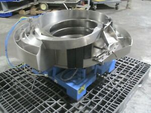 """#6 - Feeder Dynamics 36"""" Stainless Steel Vibratory Bowl Parts Feeder - EXC!"""