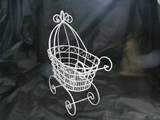 "10"" Wire Baby Carriage for Baby Shower Decorations or Centerpiece #1005"