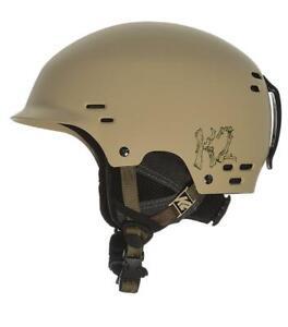 NEW High End RARE Tan $80 K2 Thrive Snowboard Helmet Adult Teen Adjustable Small