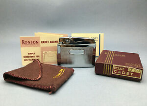 RONSON CADET ADONIS LIGHTER Box & papers Unused Mechero Feuerzeug Briquet 点烟器