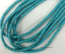"16""  strand 4mm blue stabilized Turquoise Heishi beads"
