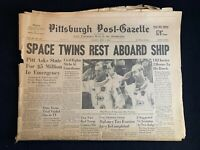 "Vintage 1965 Pittsburgh Press ""Space Twins Rest Aboard Ship"" Gemini 4 NASA"