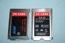 SCM SCR201 Smart Card Reader CAC Military DOD ID PCMCIA