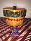 Longaberger 1997 Christmas Snowflake Basket - Combo in Red Weave - NEW/Complete