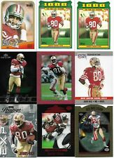 Lot of 48 different Jerry Rice cards - 1988-2000 - 65 cards total