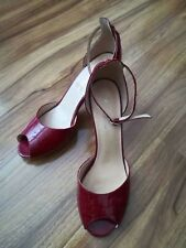 Woman Wittner patent open toe heels red size8