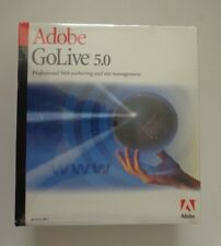 Adobe GoLive 5.0 (Retail)  Full Version for Windows  (Factory Sealed Retail Box)