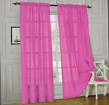 "2 Piece Solid Colors Sheer Window Curtains/drape/panels/treatment size 55""x84"""