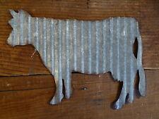 Corrugated Metal ~ COW ~ Industrial Farmhouse Barnyard Primitive WALL SIGN
