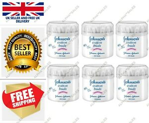 Johnson's Cotton Buds 200 Buds Pack of 6 FAST&FREE UK Stock
