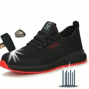 Air Mesh Steel Toe Work Shoes Working Shoes Man Lightweight Puncture-Proof