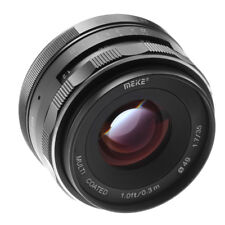 Meike 35mm F1.7 Manual  Focus MF Prime Lens For Canon EF-M EOS  M M5 M6 M100 b