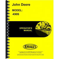 Operators Manual Fits John Deere Tractor 430S