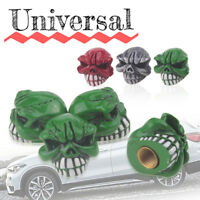 4pcs Car Skull Truck Wheel Tyre Tire Stem Air Valve Caps Dust Covers Accessories