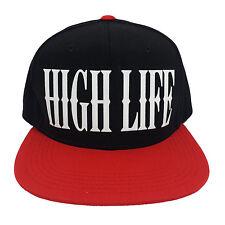 HIGH LIFE BLACK/RED (FLOCK) Snapback Cap