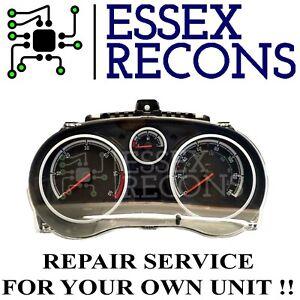 Vauxhall Corsa D Instrument Cluster Speedometer Repair Service 2006-2014.