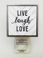 Bath Body Works LIVE LAUGH LOVE Wallflower Unit Diffuser Plug In Holder Wall Art