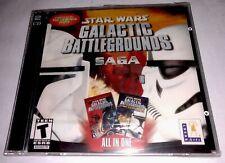 Star Wars Galactic Battlegrounds Saga Pc Brand New Sealed XP Computer Game HTF