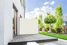 Seitenmarkise Markise Sichtschutz Sonnenschutz 160 x 300 cm cremeweiß B-Ware