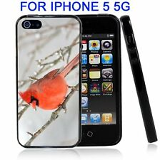 Red Bird Winter For Iphone5 5G Case Cover