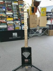 Black Diamond Cigar Box 3 String Slide Guitar with Pickup and Hardcase