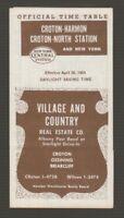 [72042] 1964 NEW YORK CENTRAL SYSTEM CROTON-HARMON & NYC POCKET TIMETABLE